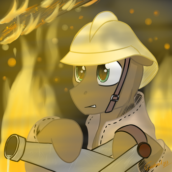 Drawing on the day of firefighter by Twotail813