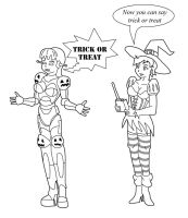 Halloween 2012: SpookyBOOt and techno witch by Vytz