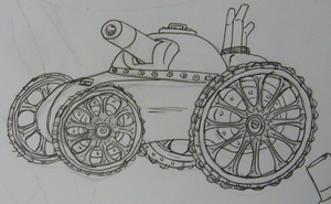 Steam punk tank by Angryspacecrab