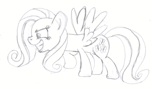 New Fluttershy is Hard to Draw by littlecolt