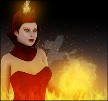 Contessa Of The Flame by miz-inthesky