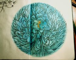 moleskine chrysanthemum by catherinetseng