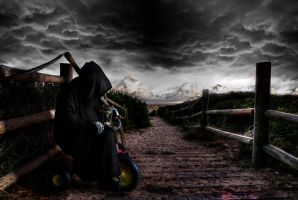 Death Waits...On a Tricycle by SenzaFallisce