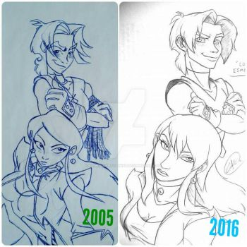 Re-Draw Rasec and Yadem by DemonCartoonist