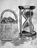Ink Basket and Hourglass by kimikana