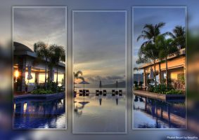 Phuket Resort Triptych by NeyoPro