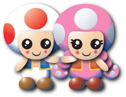Toadette and Toad by chillaxinjackson