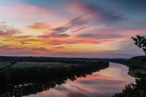 Sunset on the Osage by FabulaPhoto