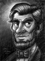 Abe Lincoln iPad drawing by danidraws