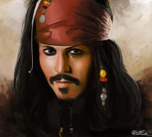 Capitain Jack Sparrow by reapier