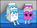 Milk and Strawberry Milk by Morrian-Gilmour