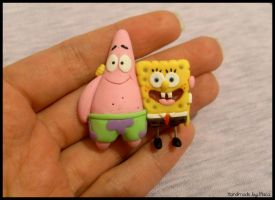 Sponge Bob and Patric by Maca-mau