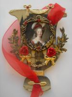 Red Marie Antoinette Urn ATC by ArtfullyMusing