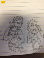 Liam and Shell by albinoraven666fanart