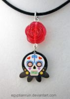 Sugar Skull Octopus Necklace by egyptianruin