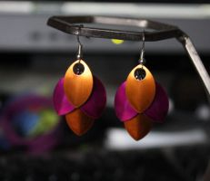 Dragon scale earrings by ashblackthorn