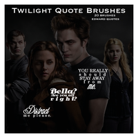 Twilight Quote Brushes by xiggy01x