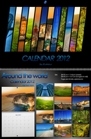Around The World Calendar 2012 by kuma-x