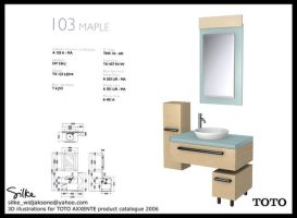 TOTO product visualization by silke3d