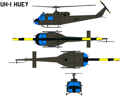 UH-1  Iroquois  Huey by bagera3005