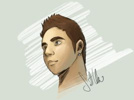 Speed Painting Me by Santi90