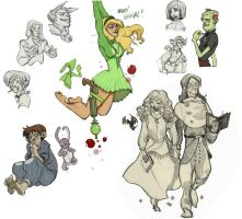 pencil characters 3 by Sally-Avernier