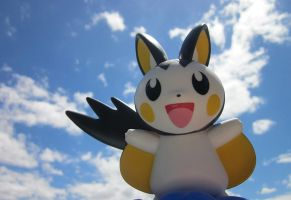 Emolga in the Sky by InsideMySight