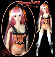 Gunbuster Diebuster 2 Nono Custom OOAK Doll by jvcustoms