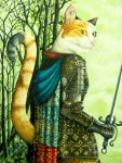 Feline Lady Knight by SiroccoDreams
