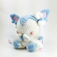 Shiny Sylveon Handmade Amigurumi by cyellow
