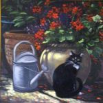 Cat Geraniums and Pots by HouseofChabrier