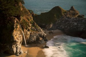 Big Sur Waterfall by louieschwartzberg