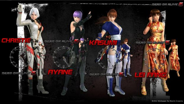 DOA5 Rainmeter Clocks by seraphimax