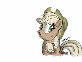 Applejack quick sketch by makemefamousR5