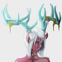 DeerGirl Colored by ErisLeea