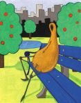 Gourd Sitting On A Park Bench by nick15