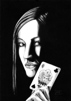 Poker face by WolfDragonCT