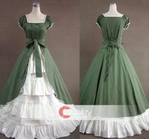 Square Collar Gothic Classic Lolita Dress by wendywei2012