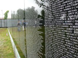 Vietnam Moving Wall names 1 by dull-stock