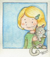 Portrait with a kitty by yuki-the-vampire