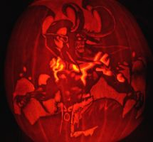 Illidan pumpkin by HadesTheLeprechaun