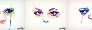 Watercolor tears by Antilef