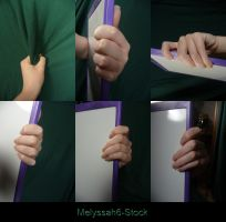 Hand Pose Stock - Gripping - Ledge/Shirt by Melyssah6-Stock