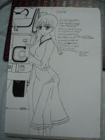 WIP Chloe - Spice and Wolf (line-art) by BlackLeatheredOokami