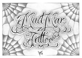 Mad Man Tattoo lettering by dfmurcia