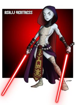 Asajj Ventress by DarkTod