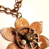 Android Copper Lotus Flower by SteamSociety