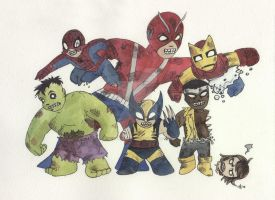 Marvel Zombies by AmberStoneArt