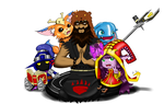 4 midgets and an Udyr by luicei375