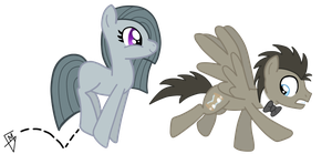Inkie Pie Chassing Doctor Whooves by Go0re